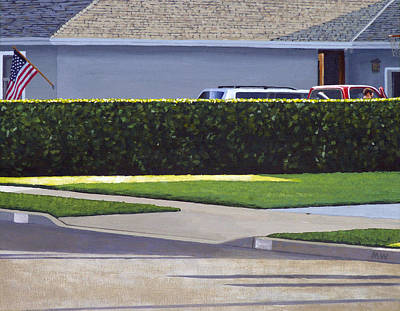 Shingles Painting - Going Out For The Evening by Michael Ward