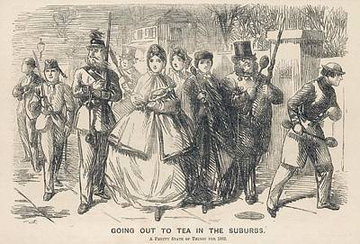 'going Out To Tea In The  Suburbs Art Print by Mary Evans Picture Library