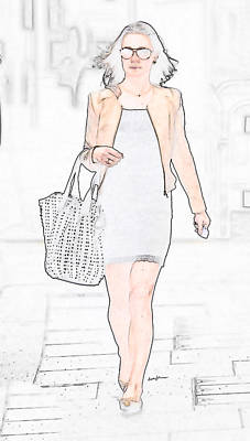 Going Shopping Art Print by Anthony Caruso