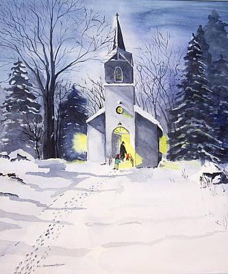 School Teaching - Going to Church by Susan Buscho