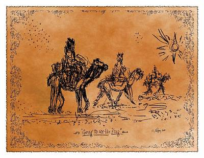 Bible Drawing - Going To See The King - Sketch by Glenn McCarthy Art and Photography