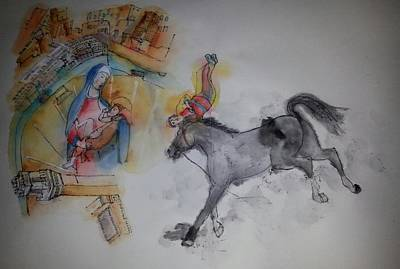 Palio Painting - going to Siena to Il Palio album by Debbi Saccomanno Chan