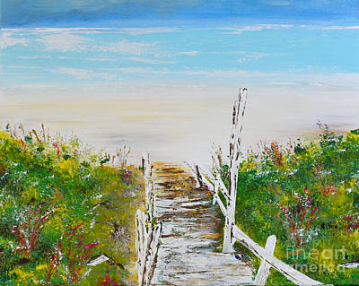 Vacation Spots Painting - Going To The Beach by Alys Caviness-Gober