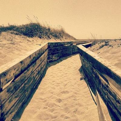 Sunny Photograph - Going To The Beach by Emanuela Carratoni