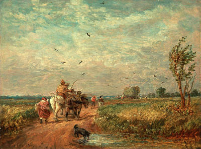 Going To The Hayfield Going Home From Haymaking Signed Art Print by Litz Collection