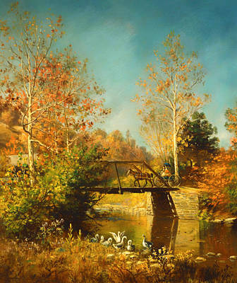 Beautiful Creek Painting - Going To Town by Mountain Dreams