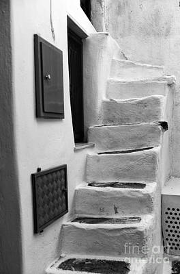 Photograph - Going Up In Mykonos Mono by John Rizzuto