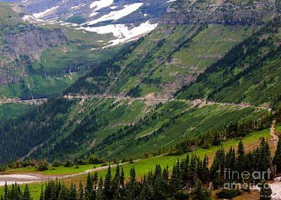 Photograph - Going Up Logan's Pass by Carol Groenen