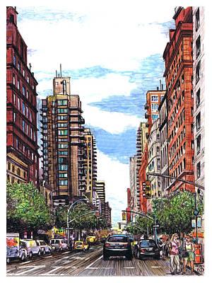 Going Uptown Art Print