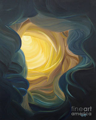 Painting - Going Within by Ginny Gaura