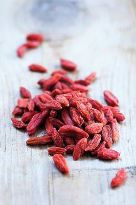 Health Food Photograph - Goji Berries by Gustoimages