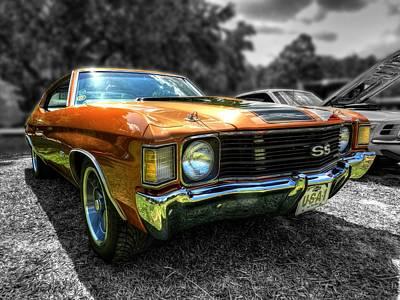 Car Digital Art - Gold '72 Chevelle Ss 001 by Lance Vaughn