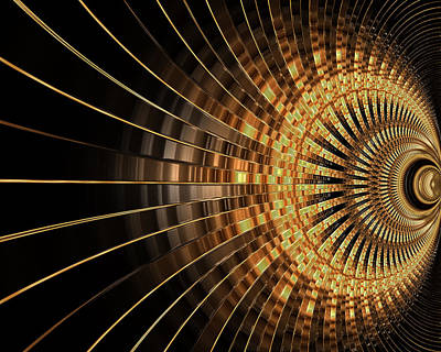 Photograph - Gold Abstract 3d by Carlos Diaz