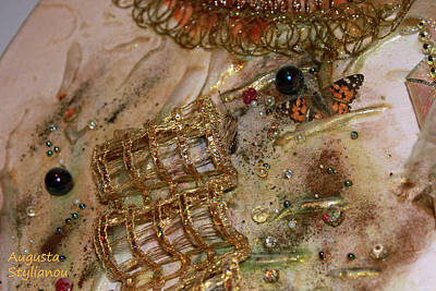 Zircon Photograph - Gold And Butterfly by Augusta Stylianou