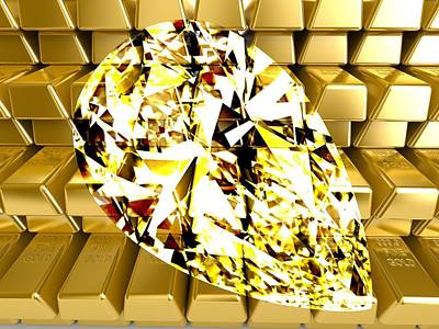 Digital Art - Gold And Diamond by Ron Davidson