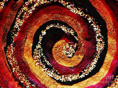 Handcrafted Photograph - Gold And Glitter 55 by Sarah Loft
