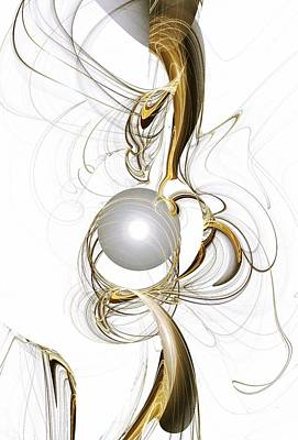Abstract Creations Mixed Media - Gold And Pearl by Anastasiya Malakhova