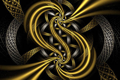 Digital Art - Gold And Silver by Sandy Keeton