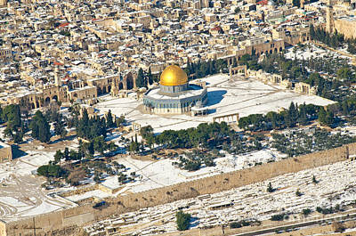 Color Photograph - Gold And White In Jerusalem. 03 by Arik Baltinester