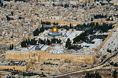 Gold And White In Jerusalem. Art Print
