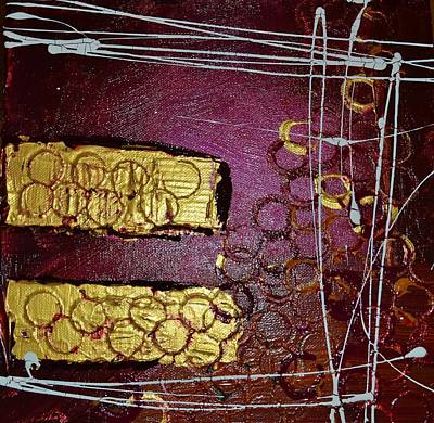 Gold Painting - Gold Bar 2 by Leo Gordon