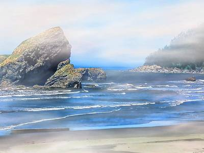Digital Art - Gold Beach Oregon by Robert Roland