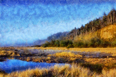 Digital Art - Gold Bluffs Beach by Kaylee Mason