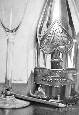 Drawing - Gold Bottle by Anthony Johnson