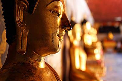 Budda Photograph - Gold Buddha At Wat Phrathat Doi Suthep by Metro DC Photography
