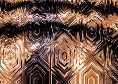 Intaglio Digital Art - Gold Carving by Hakon Soreide