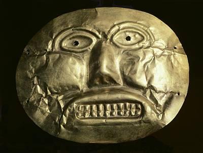 Gold Ceremonial Mask. Calima Art Art Print