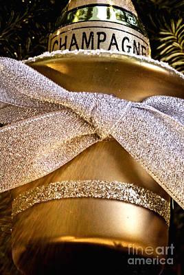 Gold Champagne Ornament Art Print by Birgit Tyrrell