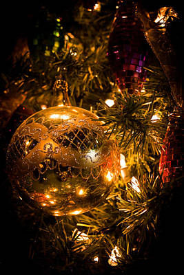 Photograph - Gold Christmas Ornament by Joann Copeland-Paul