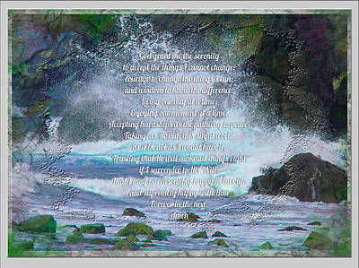 Photograph - One Day At A Time Serenity Prayer by Robert Roland