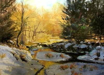 Painting - Gold Creek Glow by Joseph Barani