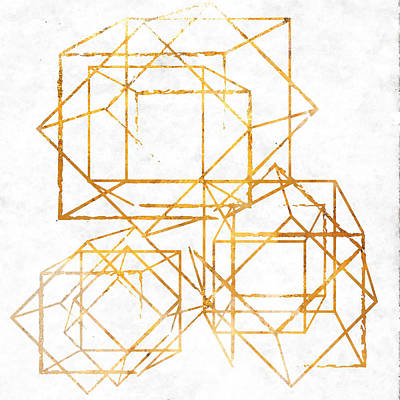 Gold Cubed I Art Print by South Social Studio