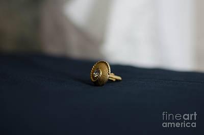 Cufflinks Photograph - Gold Cufflink by James Rolin