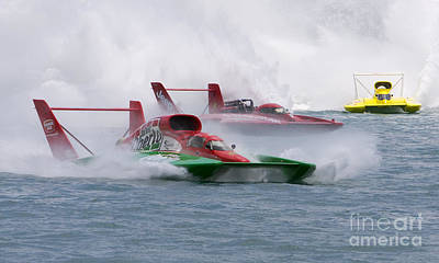 Romantic French Magazine Covers - Gold Cup Hydroplane Races by Jim West