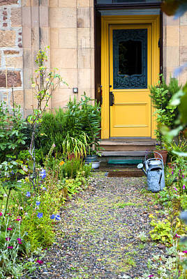 Photograph - Gold Door Dornoch Scotland by Sally Ross