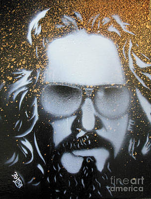 Lebowski Painting - Gold Dude  by Christopher  Chouinard