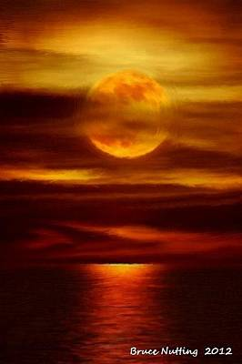 Moon Painting - Gold Elegance by Bruce Nutting