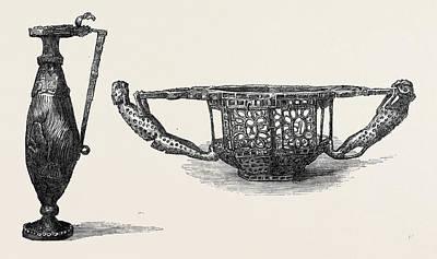 Gold Ewer Or Wine Jug Dacian 5th Century Left Bowl Or Art Print