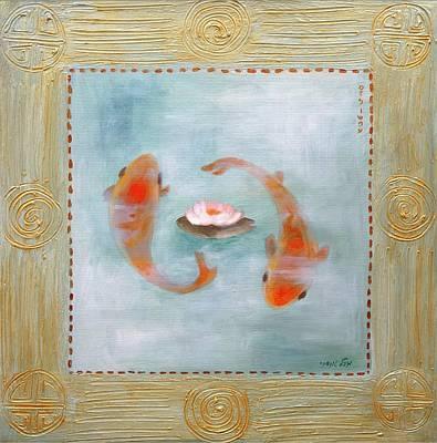 Fertility Symbols Painting - Gold Fish 2 by Michal Shimoni