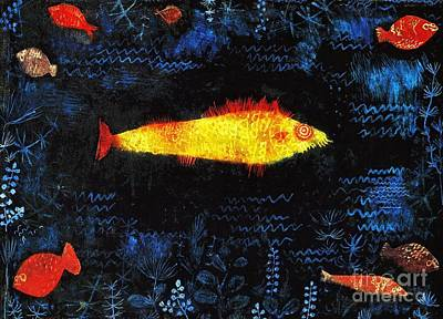 Painting - Gold Fish by Pg Reproductions