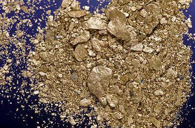 Gold Flakes & Dust Art Print