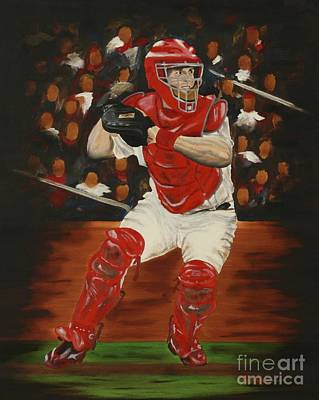 Baseball Art Painting - Gold Glove by Terry  Hester