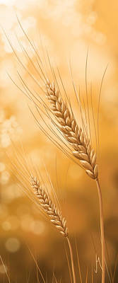 Online Art Gallery Digital Art - Gold Grain by Veronica Minozzi