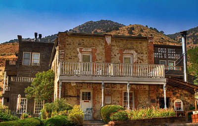 Gold Hill Hotel And Saloon Art Print by Donna Kennedy
