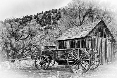 Old Barn Photograph - Gold Hill Wagon by Janis Knight