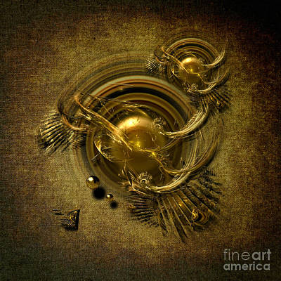 Gold Birds Art Print by Alexa Szlavics